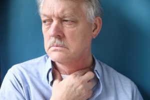 Gürtelrose am Hals