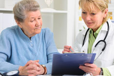 Patient beim Arzt